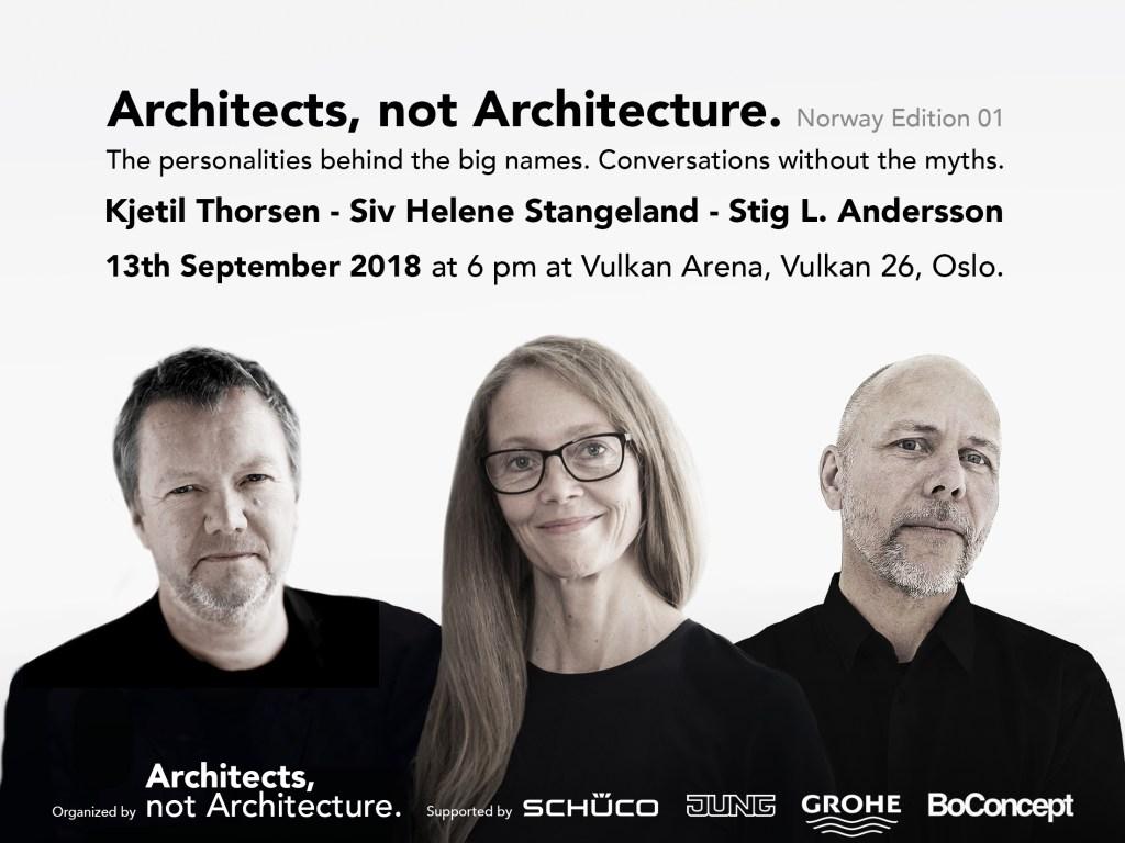 ARCHITECHTS, NOT ARCHITECTURE