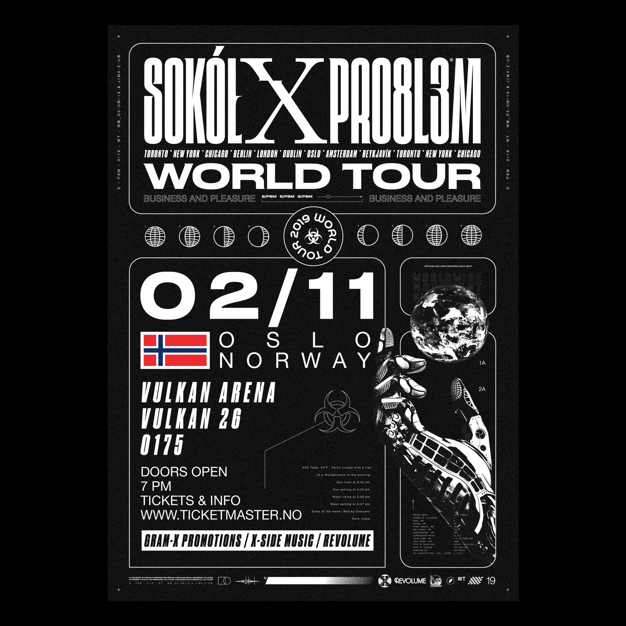 SOKOL / PRO8L3M / WORLD TOUR 2019